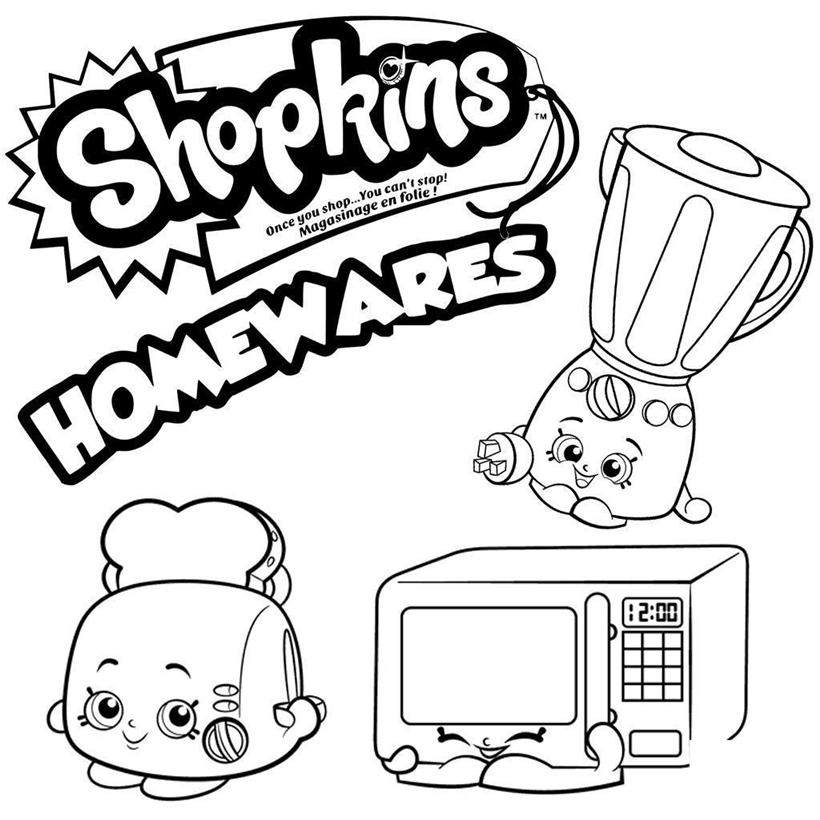 820x820 Shopkins Coloring Pages Printable Hand Drawing Homewares