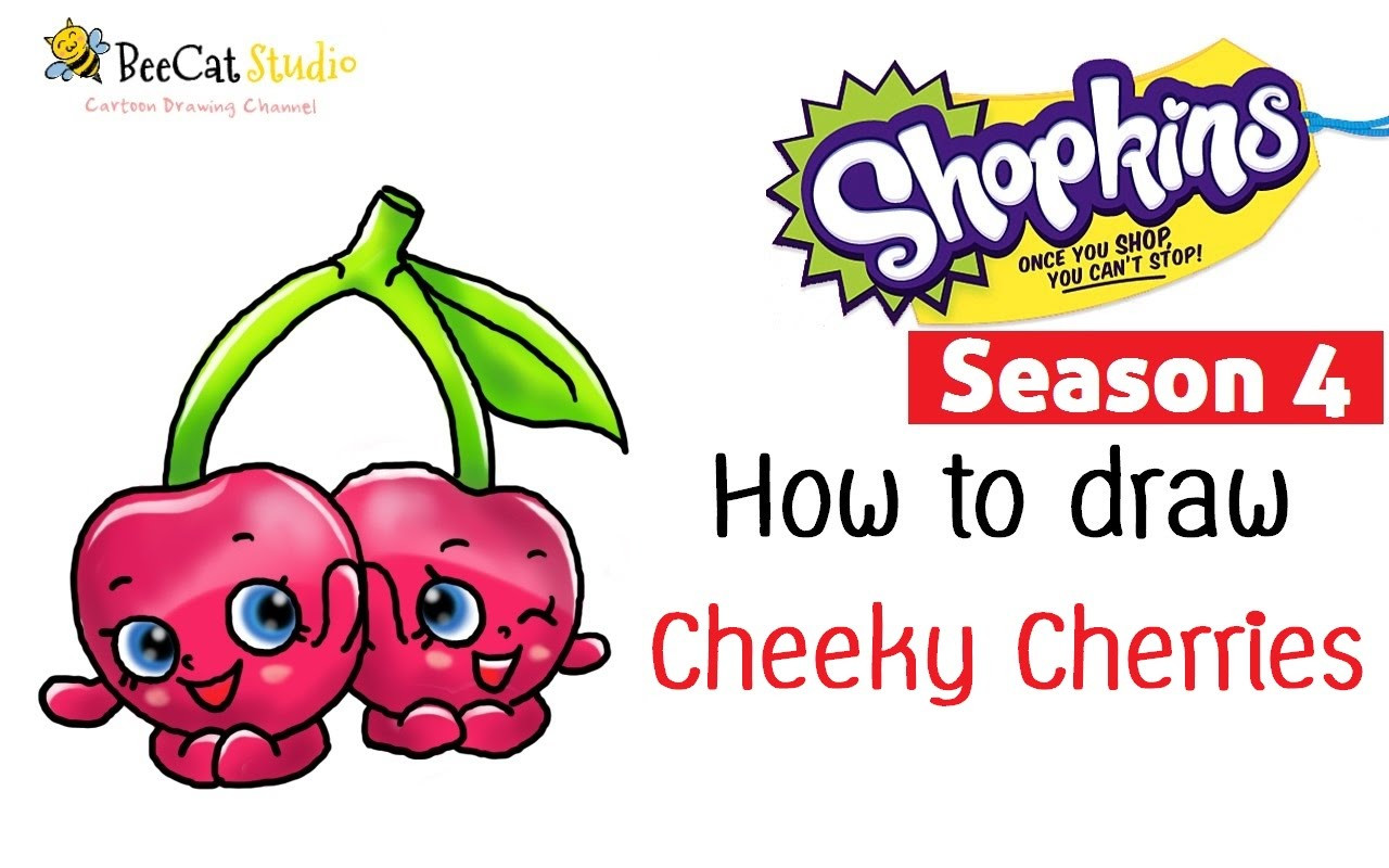 1280x800 How To Draw Shopkins Season Cheeky Cherries Super Cute Arresting