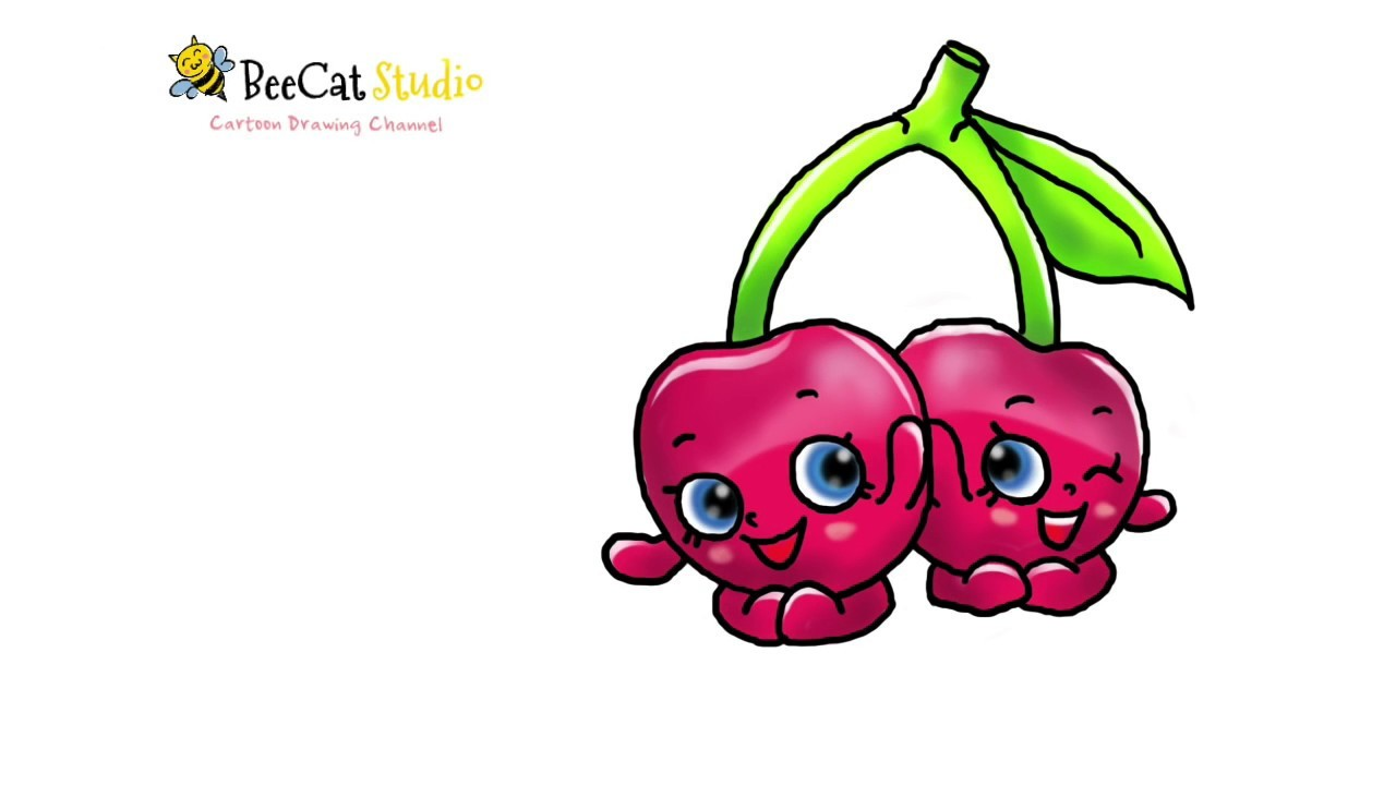 1280x720 How To Draw Shopkins Season Cheeky Cherries Super Cute Within
