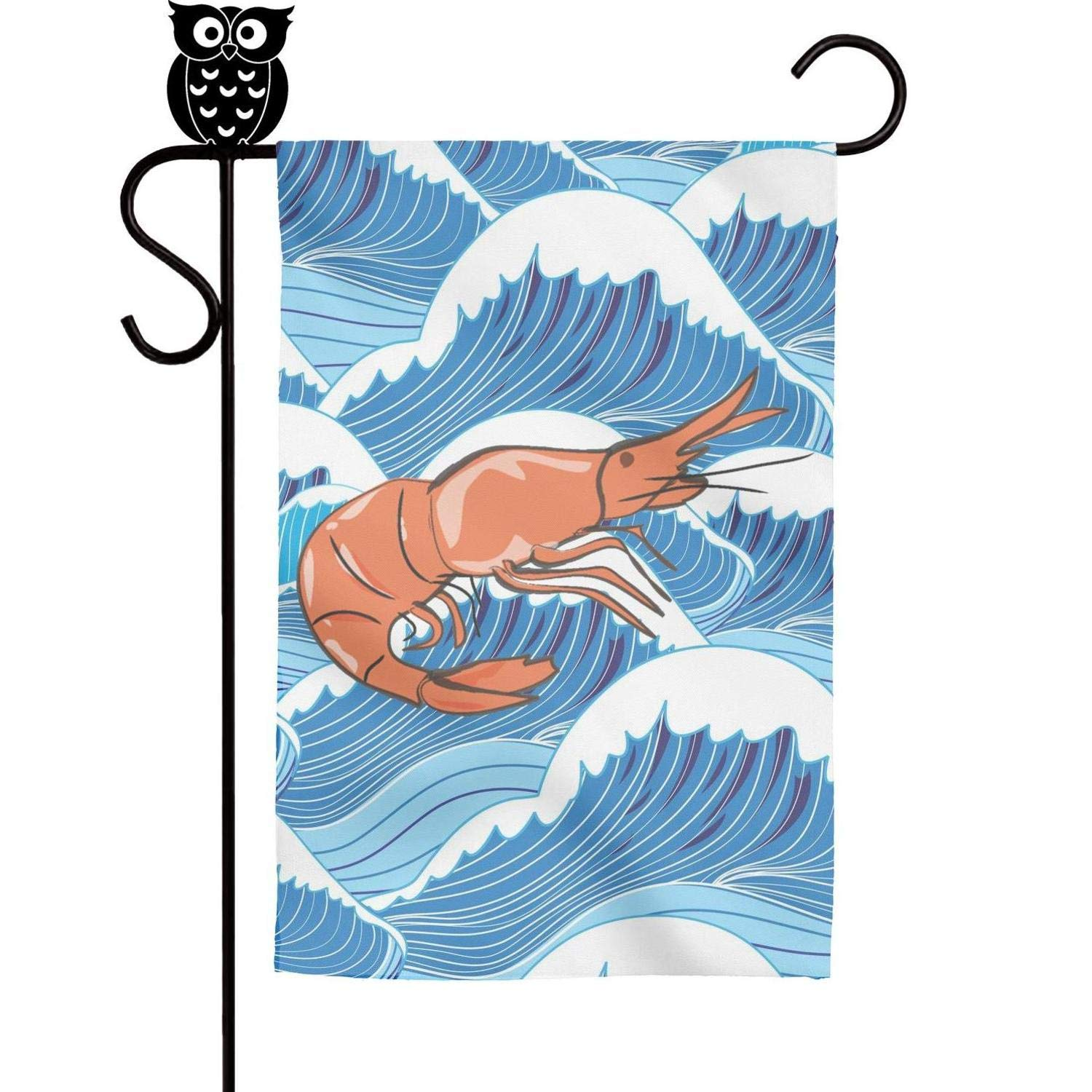 1500x1500 Bodu Cute Shrimp Drawing Art Garden Flag Yard Home