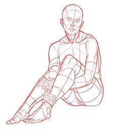 Side Pose Drawing