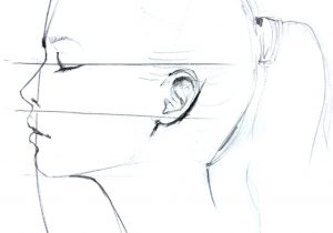 300x210 profile face drawing tutorial gallery how to draw side profile