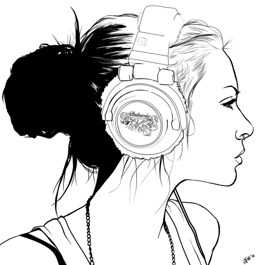 880x908 Headphones Drawing Side View For Free Download