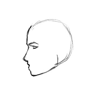 311x311 How To Draw A Female Face In Profile Sharenoesis