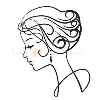 320x320 Line Art Woman Line Art Drawings, Art, Woman Face