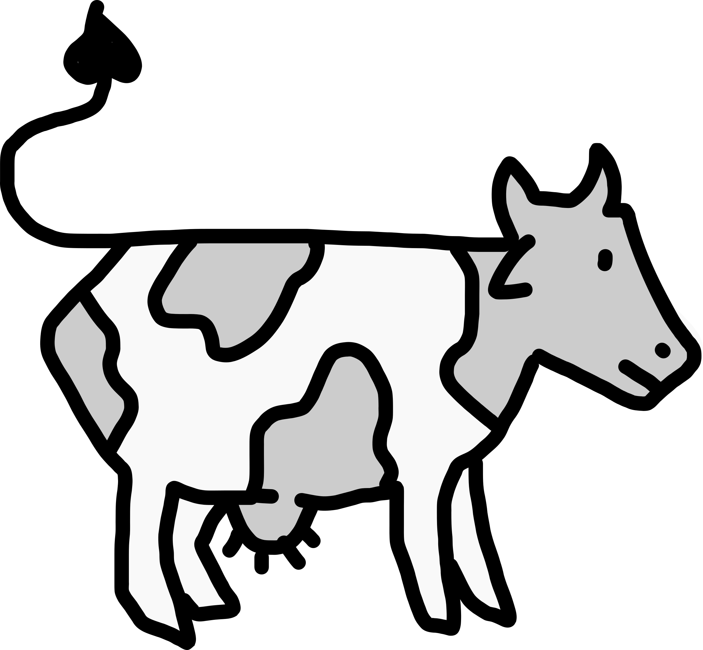 2400x2219 Collection Of Free Cows Drawing Side View Download On Ui Ex