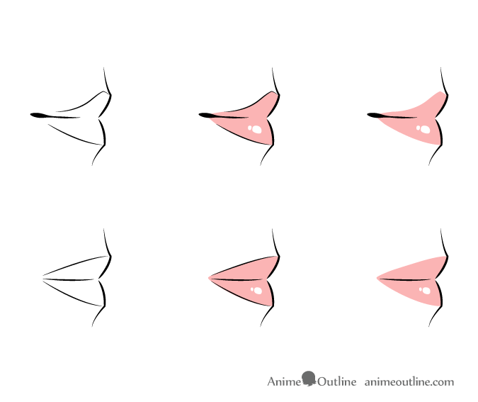 675x567 How To Draw Anime Lips Tutorial