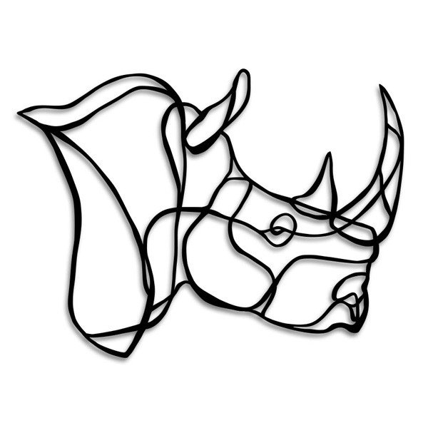 600x600 Rhino Drawing Side View For Free Download