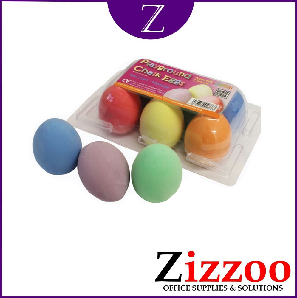 996x1000 chalk eggs for sidewalk drawing in different coloured eggs