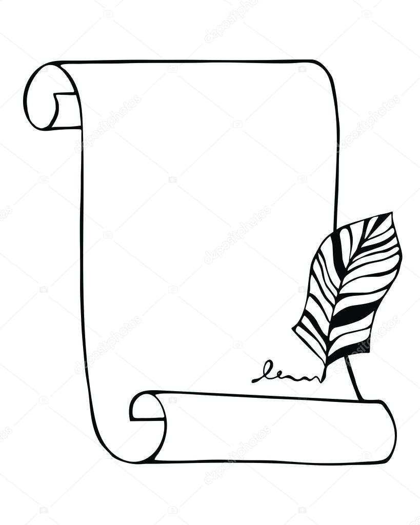 819x1024 Scroll Drawing Sideways For Free Download