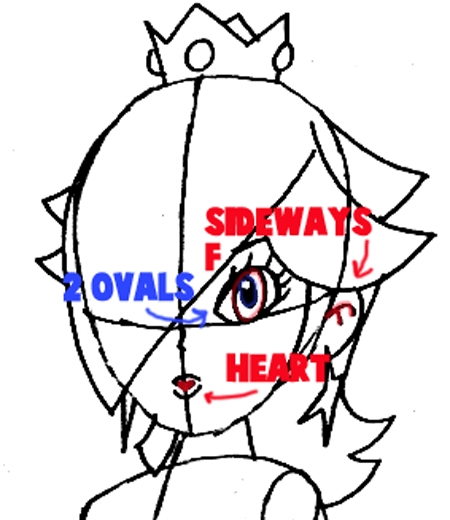 450x520 How To Draw Rosalina From Wii Mario Kart Step