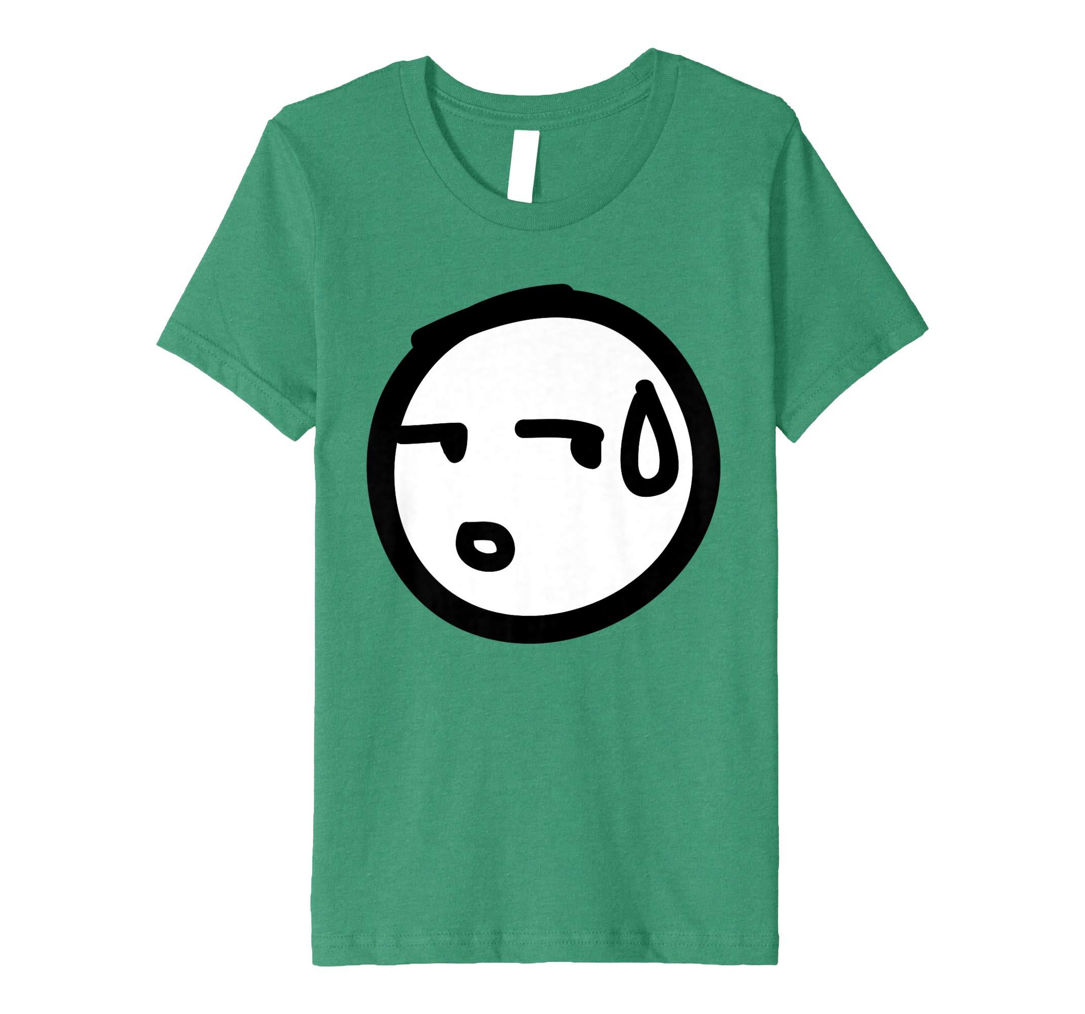 2140x2000 Kawaii Anime Emoji Sideways Sweat Face Drawing T Shirt