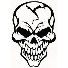 Sideways Skull Drawing