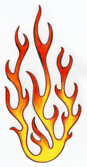 366x699 How To Draw Flames
