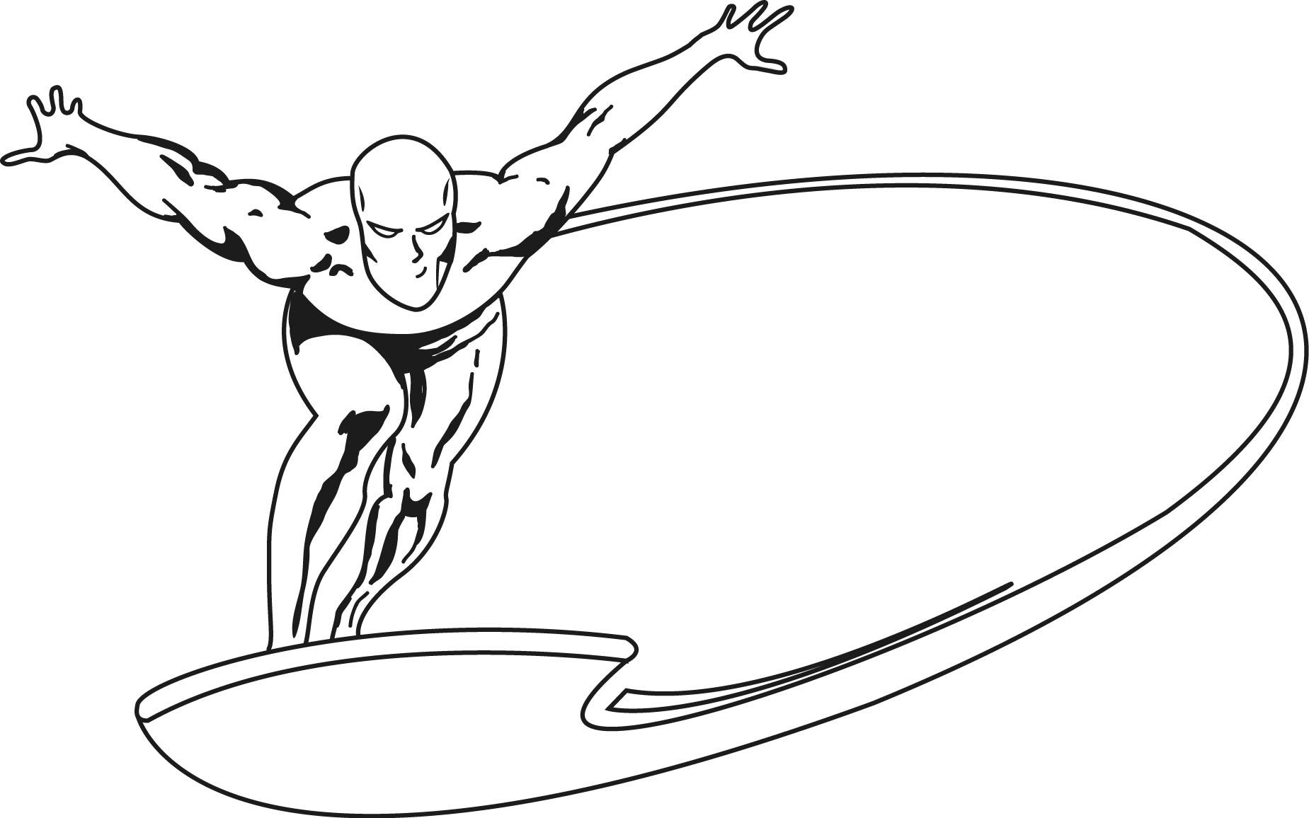 1849x1156 fantastic heroes coloring pages silver surfer silver surfer