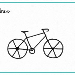 250x250 Bike Drawing Test Outline Simple Faces Easy Cartoons Girl