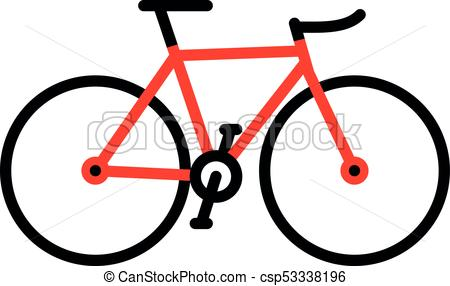 450x286 Red Bicycle Simple Flat Design Vector Illustration Of A Bike