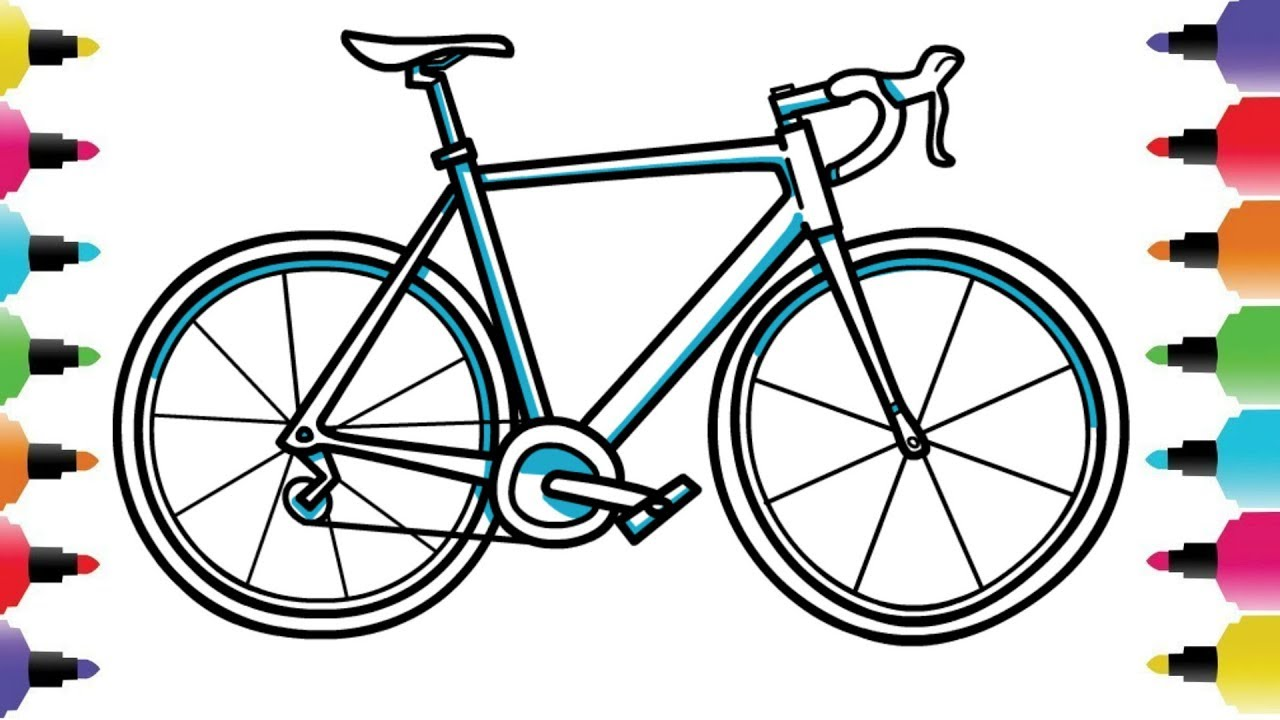 1280x720 Simple Bike Drawing Easy