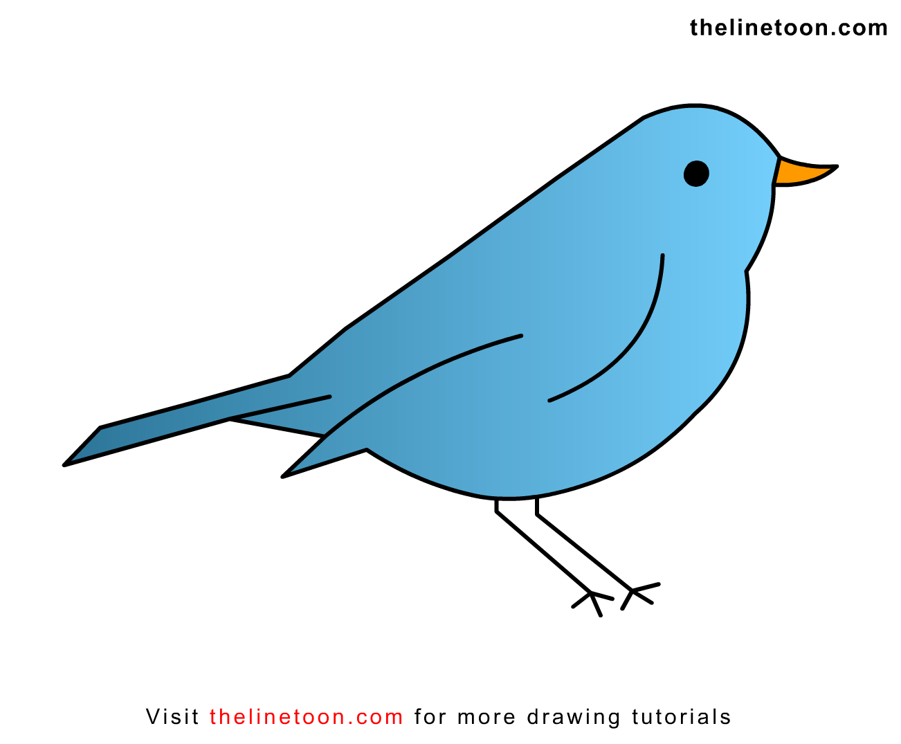 1302x1075 Simple Bird Drawing For Kids