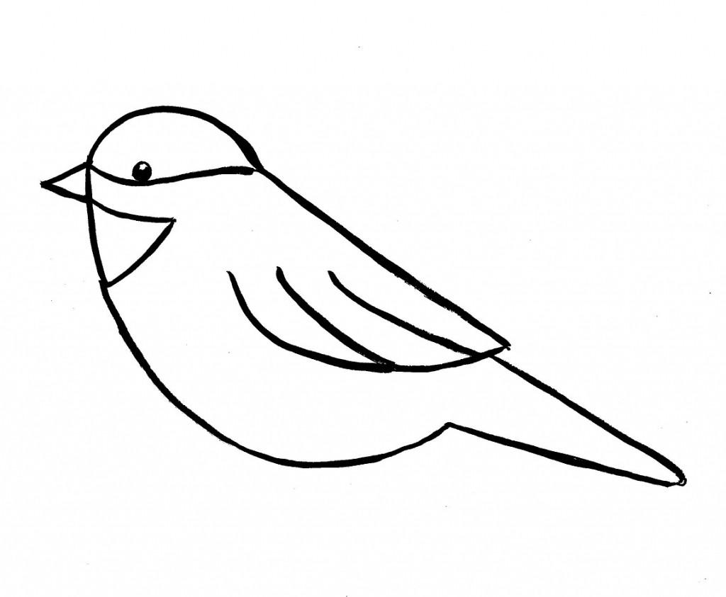 1024x843 Bird Simple Drawing