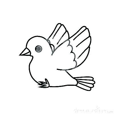 400x400 Simple Bird Outline Best Birds Coloring