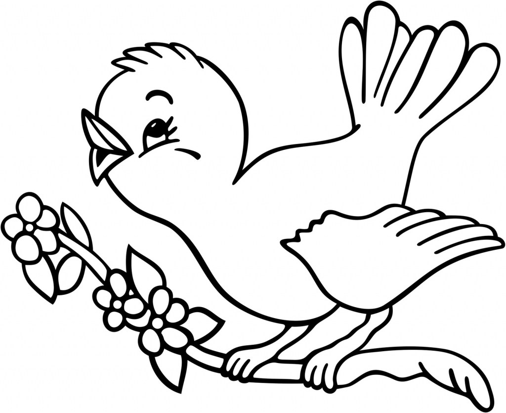 1024x835 Birds Drawings For Kids Drawing Simple