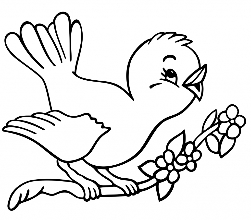 Simple Bird Line Drawing
