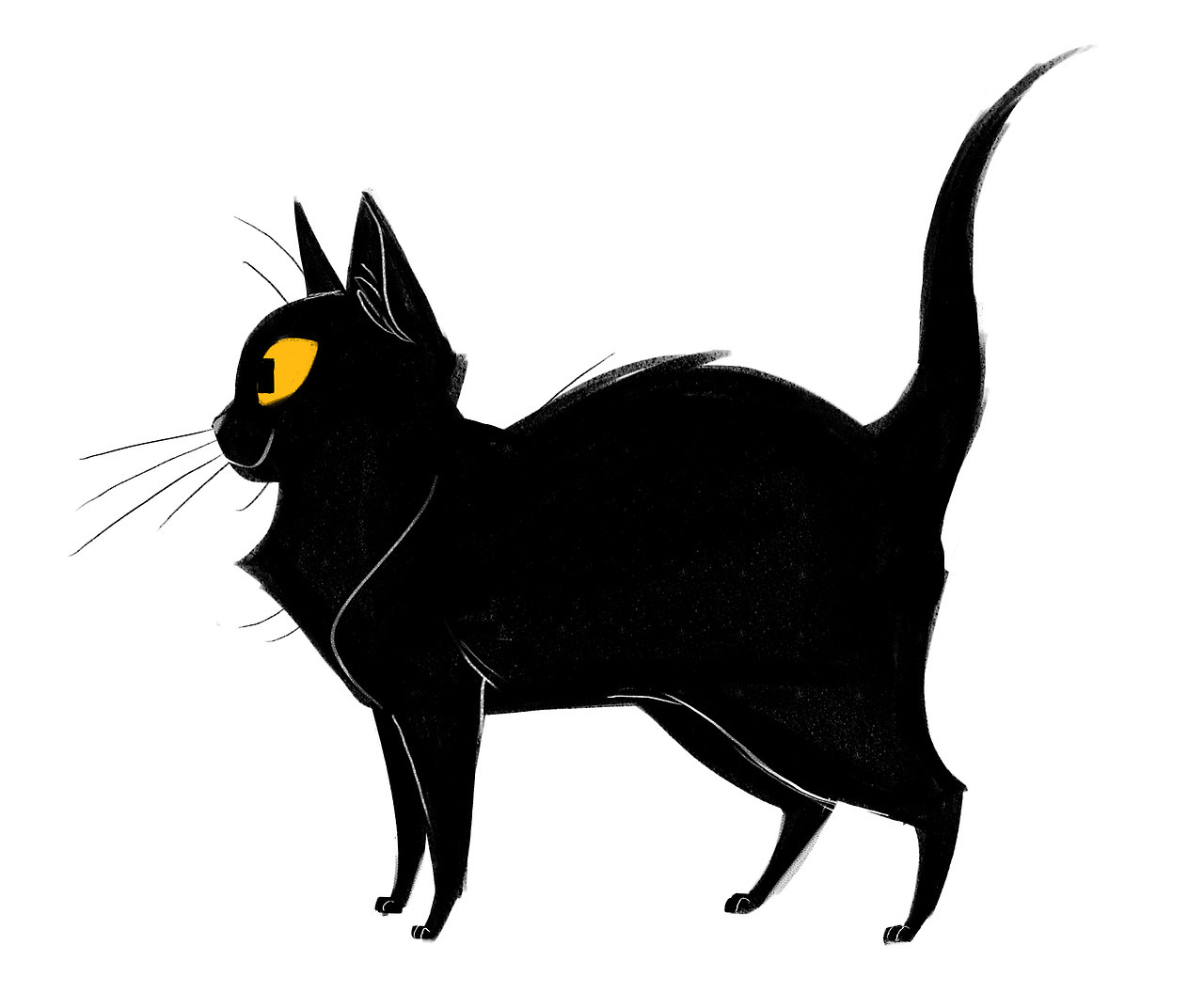 1280x1055 Cat Drawings Awesome Simple Cute Anime Abstract Black And White