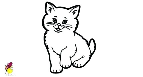 570x310 Simple Cat Face Drawing Pin How To Draw A Simple Kitty Face