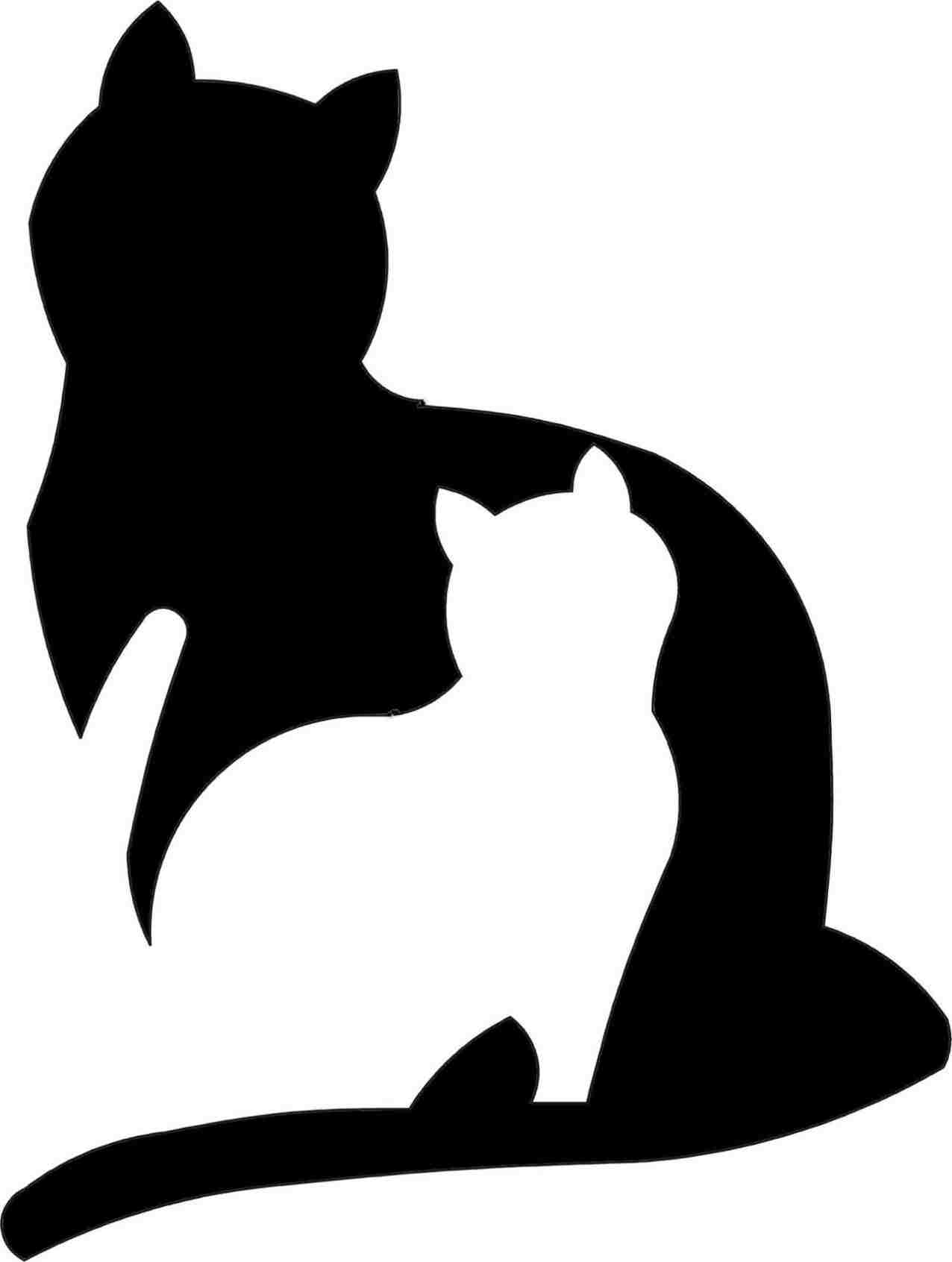 1276x1692 Download Rhcom Wallpaper Simple Black Cat Drawing