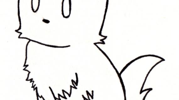 570x320 Black Cat Pencil Drawing