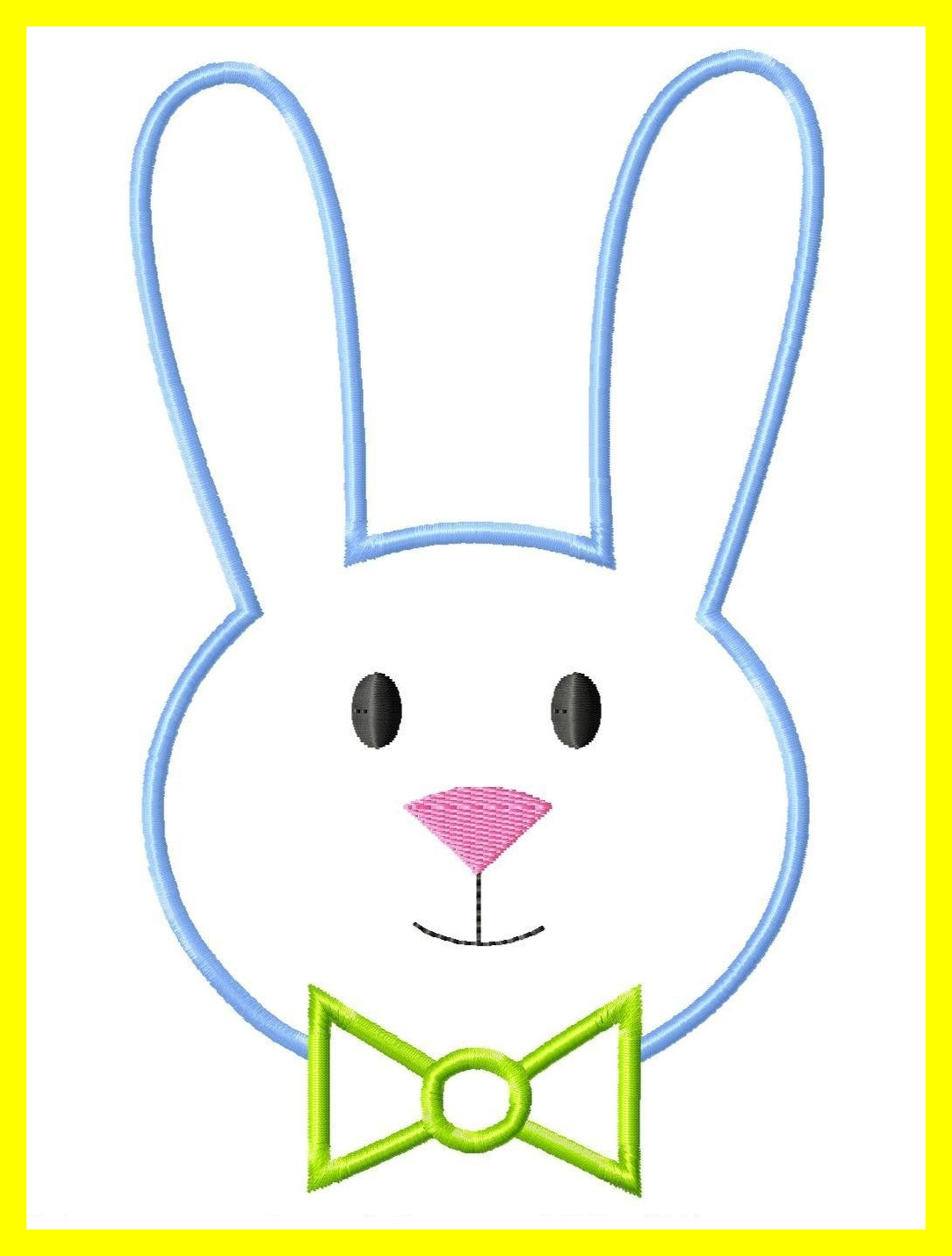 1084x1430 Easy Bunny Face Drawing