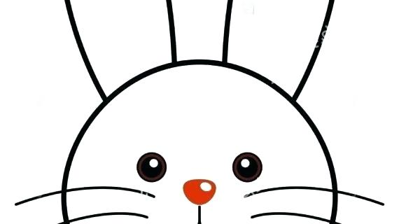 570x320 How To Draw A Simple Rabbit Draw Simple Cartoon Rabbit