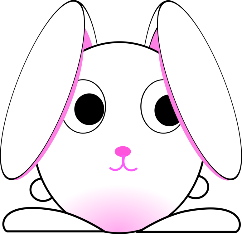 776x750 Rabbits Drawing Face Transparent Png Clipart Free Download