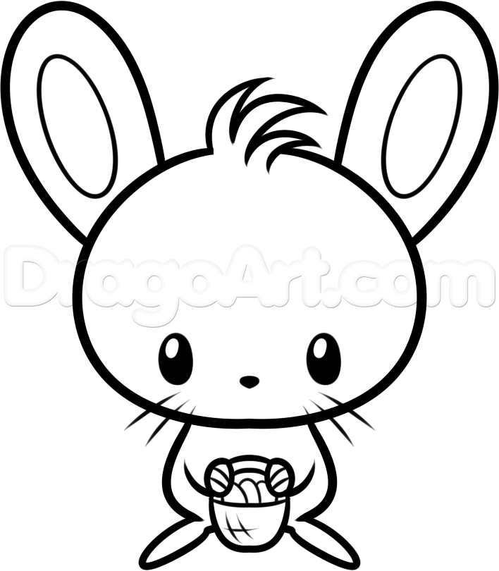 708x810 Simple Bunny Face Drawing At Getdrawings Com Free For Personal Use