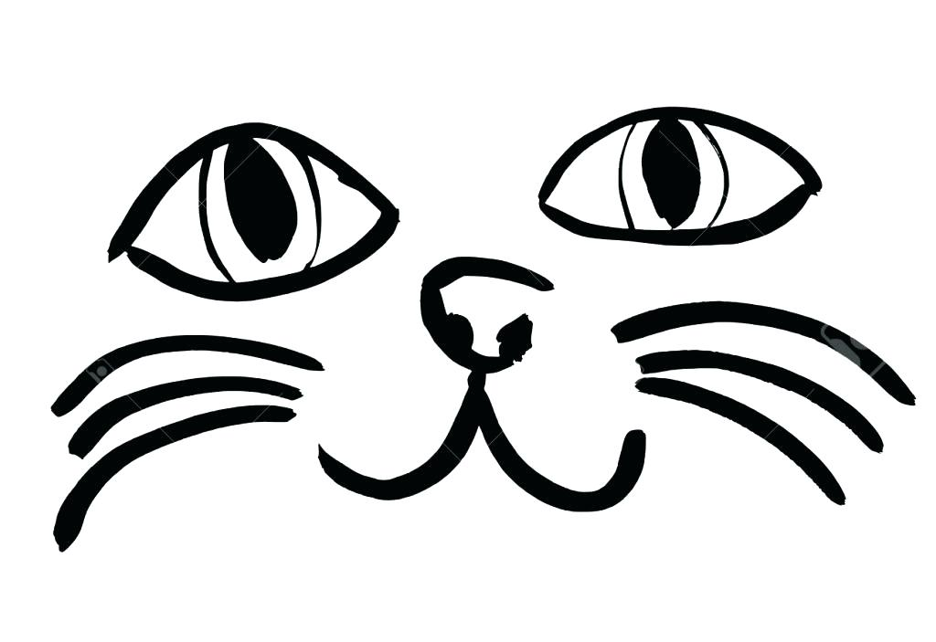 1024x703 Simple Face Drawing Simple Face Drawing Simple Cat Face Drawing
