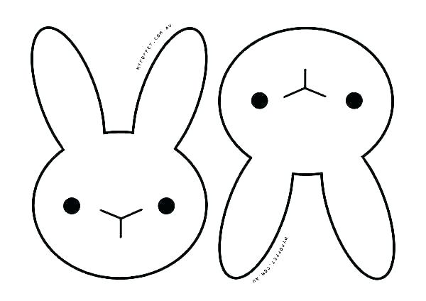 600x424 Coloring Pages Of Rabbits Coloring Pages Bunny Face Bunny Face