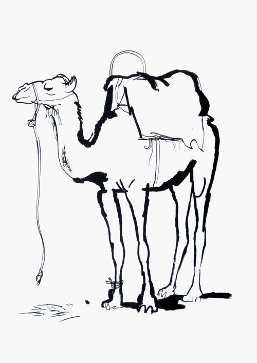 Simple Camel Drawing | Free download best Simple Camel
