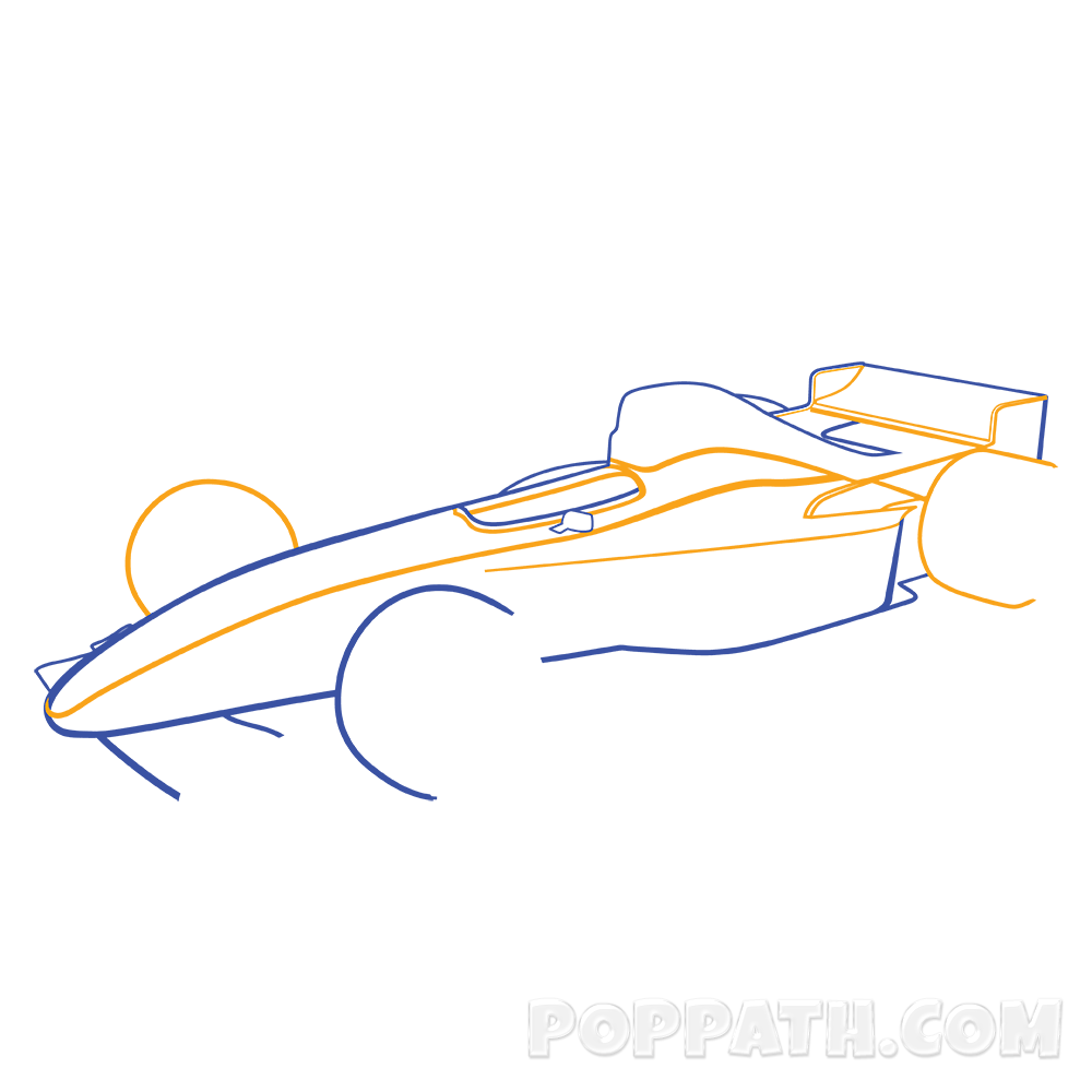 1000x1000 How To Draw A Formula One Car Pop Path
