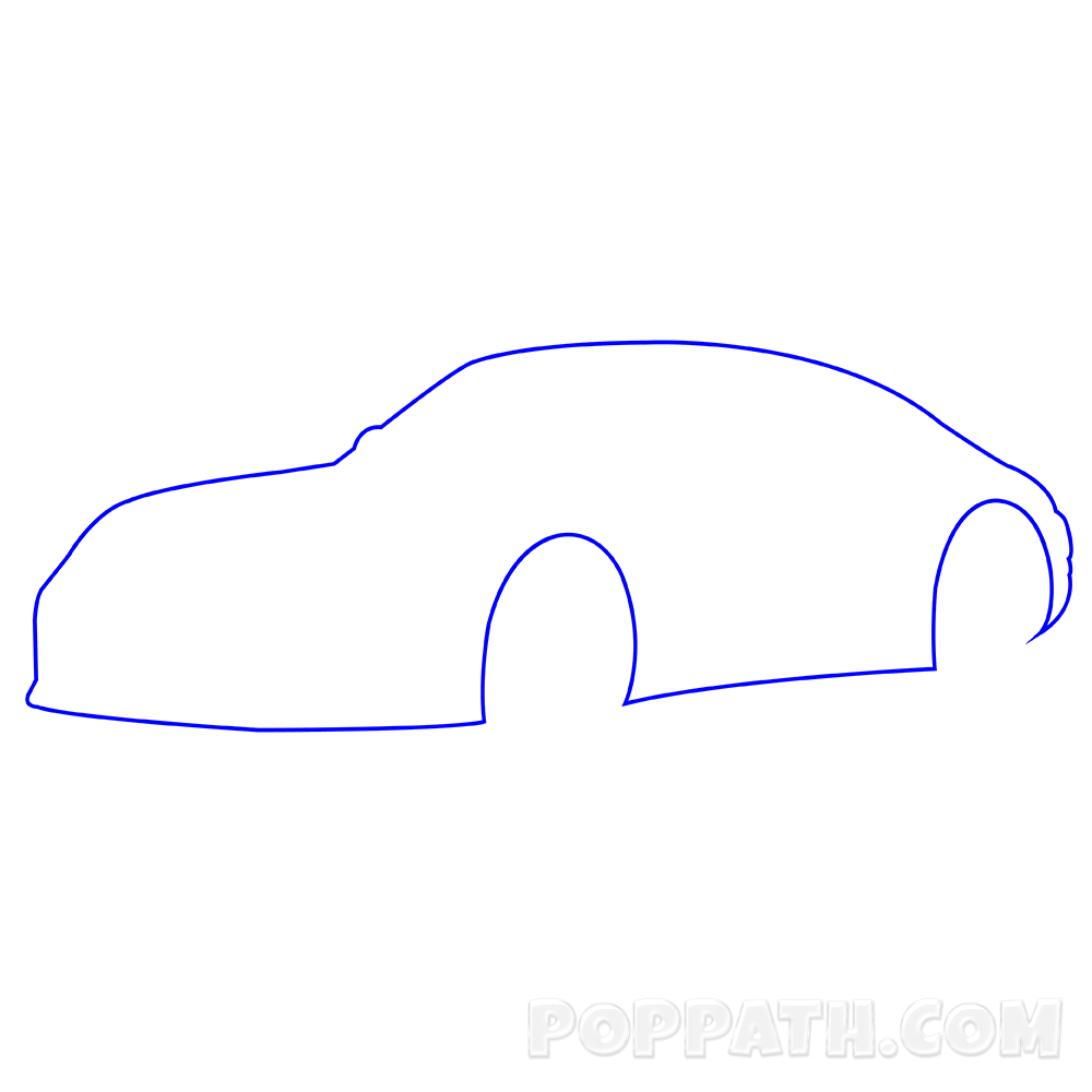 1000x1000 How To Draw A Porsche Pop Path