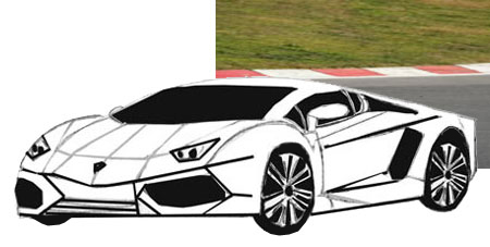 450x227 How To Draw Sports Car