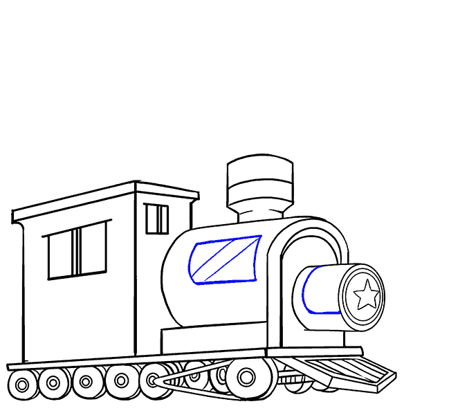 678x600 How To Draw A Train In A Few Easy Steps Easy Drawing Guides