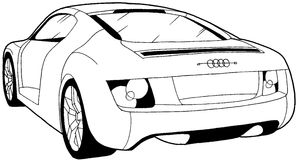 1000x544 How To Draw The Back Of A Car With Easy Step