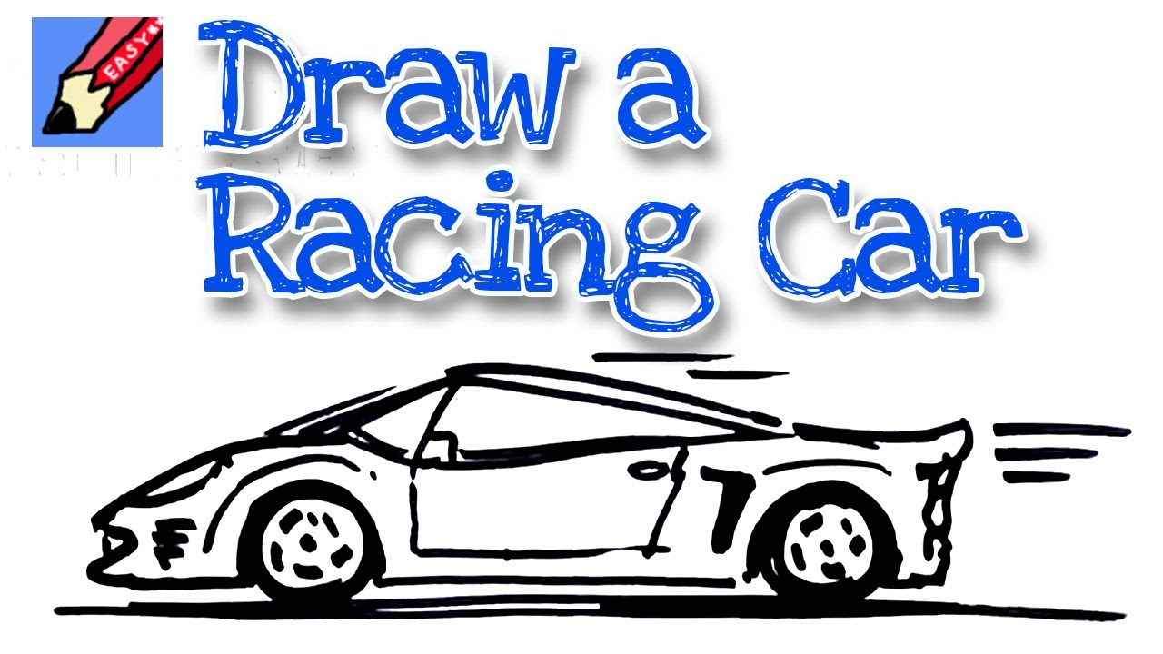 1280x720 How To Draw Sports Car Real Easy