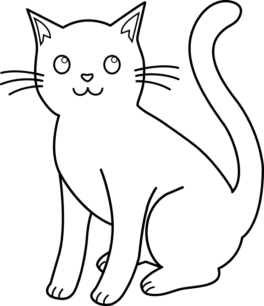 883x1024 Cliparts For Free Download Cats Clipart Line And Use