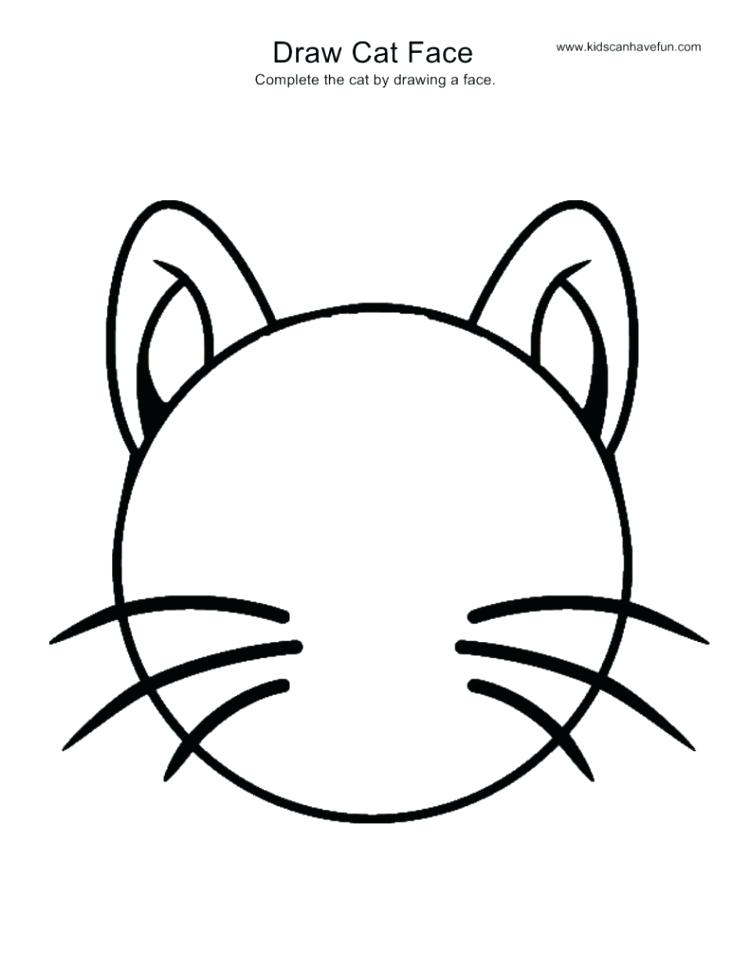 750x971 How To Sketch A Cat Face How To Draw A Cute Cat Cat Face Sketch