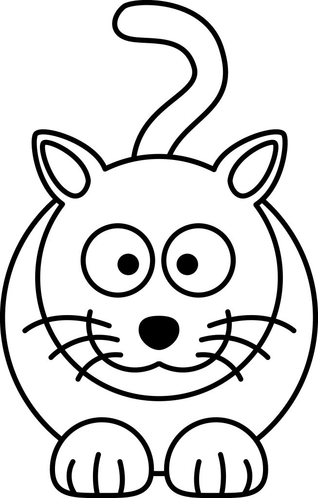 653x1024 Simple Cat Drawing Fresh Collection Of Free Kitten Vector Easy