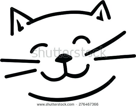 450x358 Simple Cat Face Drawing Cartoon Cat Face Easy Kitty Face Drawing