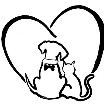 336x336 Simple Dog And Cat Drawing Free Line Drawings Cute Love Anime I