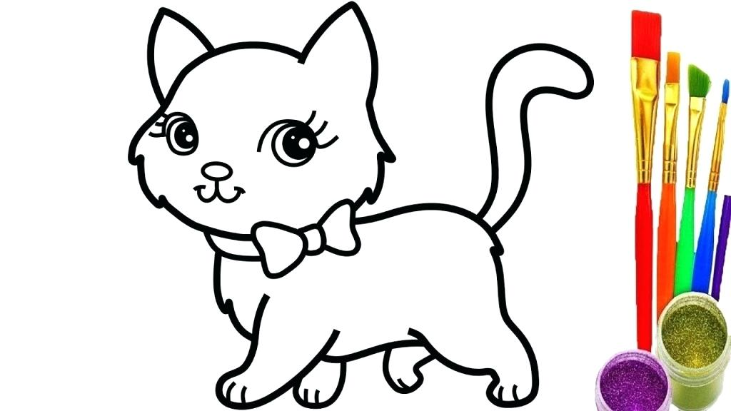 1024x576 How To Draw A Cartoon Cat Face